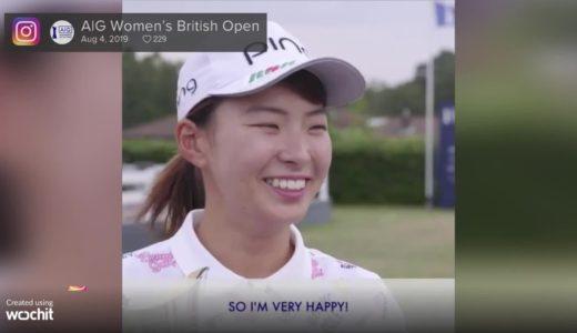 スマイルシンデレラ渋野日向子、全英女子ゴルフV=大会公式インスタグラムから
